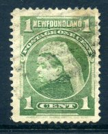 Newfoundland 1897-1918 Definitives - 1c Queen Victoria - Yellow-green - Used (SG 85a) - Newfoundland
