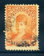 Newfoundland 1897-1918 Definitives - 3c Queen Alexandra Used (SG 88) - Newfoundland