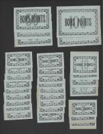 Lot De 30 Bons Points  -  Bleu  -  Année 50/60  -  2/100 Pts- 3/50Pts- 4/10 Pts - 21/5 Pts. - Zonder Classificatie