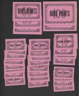 Lot De 30 Bons Points  -  Rose  -  Année 50/60  -  2/100 Pts- 3/50Pts- 4/10 Pts - 21/5 Pts. - Zonder Classificatie