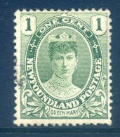 Newfoundland 1911-16 Coronation - 1c Queen Mary MNG (SG 117) - 1908-1947