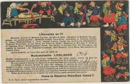 Carte Humoristique Classe Pere Cent Cercueil 1904 - Umoristiche