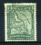 Newfoundland 1928-29 Publicity Issues - 1c Map Of Newfoundland & Labrador Used (SG 164) - 1908-1947