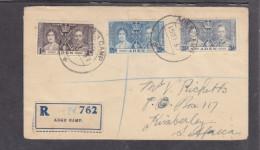 Aden, George VI Coronation, 1937, Plain Cover, Registered, ADEN CAMP  15 SEP 37, C.d.s. (NOT 1ST DAY) - Aden (1854-1963)