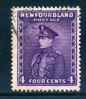 Newfoundland 1932 Definitives - 4c Duke Of Windsor Used (SG 212) - 1908-1947