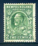 Newfoundland 1932-38 Definitives - 2c King Geoge V Used (SG 223) - 1908-1947
