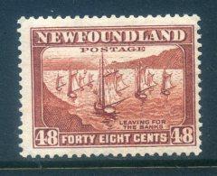 Newfoundland 1932-38 Definitives - 48c Fishing Fleet HM (SG 228c) - 1908-1947