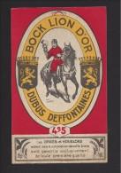 Etiquette De Bière Bock  -  Lion D'Or  - Brasserie  Dubus  Deffontaines à Annappes (59) - Cerveza