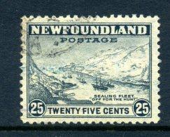 Newfoundland 1941-44 KGVI Definitives (P.12½) - 25c Fishing Fleet Used (SG 288) - 1908-1947
