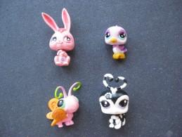 6 Figurines Petshop  & - Katten