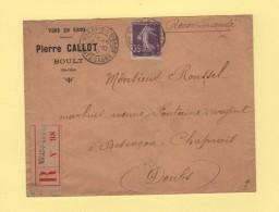 Voray Sur L Oignon - Haute Saone - 1910 - Recommande - Storia Postale