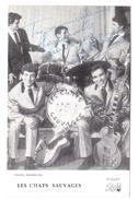 Photo Dédicacée LES CHATS SAUVAGES Avec DICK RIVERS . DIsques Pathé - Chanteurs & Musiciens