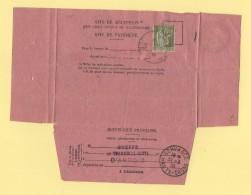 Servance - Haute Saone - Avis De Reception - Arbois - Jura - 1938 - Type Paix - Postmark Collection (Covers)