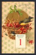 CPA  -  Carte Fantaisie Nouvel An - Bonne Année - Calendrier - New Year