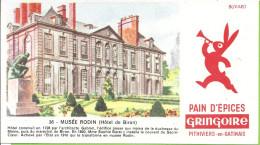 "--BUVARD PAIN D'EPICES "" GRINGOIRE "" --  MUSEE RODIN   ( HOTEL DE BIRON ) - Peperkoeken"