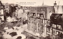CPA GRANVILLE - ENTREE DE LA PLAGE - L'HOTEL DES BAINS ET LA POTINIERE - Granville