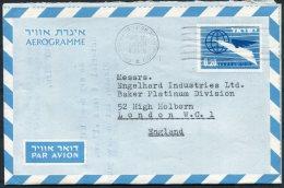 1960 Israel Aerogramme Holland - Israel Company, Tel Aviv - High Holborn, London - Israel