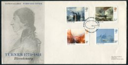 1975 GB Turner Paintings Tate Gallery Official First Day Cover - FDC