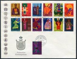 1971 Liechtenstein Vaduz Kirchenpatrone Church Saints Cover - Covers & Documents