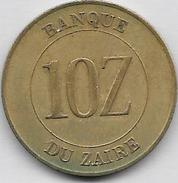 10 Zaires 1988 Qualité++++ - Zaire (1971-97)