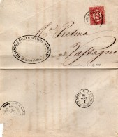 1876 LETTERA CON ANNULLO MAROSTICA VICENZA Carpanè  San Nazario - 1861-78 Vittorio Emanuele II