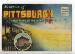 ÉTATS-UNIS . SOUVENIR OF PITTSBURGH . POCHETTE DE 18 VUES - Réf. N°17265 - - Pittsburgh