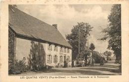63 - LES QUATRE VENTS PRES DE TAUVES - LE RESTAURANT ANIME - CPA TRES PEU COURANTE - France