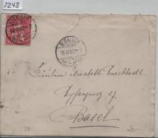 1882 Sitzende Helvetia/Helvétie Assise 38/30  - Stempel: St. Gallen Nach Basel 16.II.82 - 1862-1881 Helvetia Assise (dentelés)