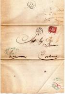 1875 LETTERA CON ANNULLO VICENZA - Servizi