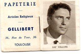 PETIT ALMANACH  DE 1959 - 31 TOULOUSE - PAPETERIE GELLIBERT - PHOTO RAF VALLONE - Calendriers
