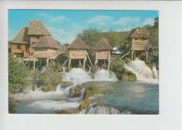 Jajce, Water Mill, Wassermühle, Watermolen Used Postcard (cb490) Pliva River Nice Stamp Overprinted - Bosnië En Herzegovina