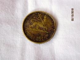 Ethiopie Token 50 Santeem 1936 EE = 1944 (to Remplace The Silver Nedj Shilling) - Ethiopie