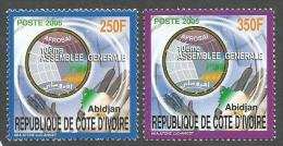 Cote D´Ivoire Ivory Coast 2005 AFROSAI Computer Meeting Yvert 1128-9 Michel 1327-8 MNH Mint Set - Ivoorkust (1960-...)