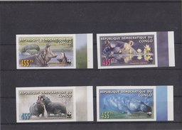 CONGO 2006 WWF Imperforated MNH With Hippo. - W.W.F.