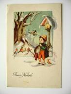BUON NATALE  NOEL        POSTCARD  USED    CONDITION PHOTO FORMATO PICCOLO - Natale