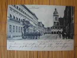 Dessau, Steinstrasse, Hotel Goldener Beutel, Gelaufen 1905 - Dessau