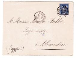 Sage Lettre Paris Pour Alexandrie - Postmark Collection (Covers)