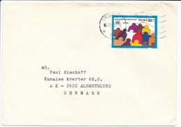 Mi 3545 Solo Cover - 1995 To Denmark - UN United Nations 50th Anniversary - 1944-.... Republic