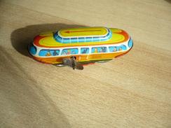 Blech Bahn Mit Schlüsselwerk  (321) - Antikspielzeug