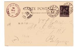 Sage Lettre Carte Postale Libonis De Paris Pour La Belgique - Postmark Collection (Covers)