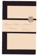 Sage Lettre Avis De Deuil Au Tarif Des Imprimés Sous Bande Dijon Côte D´or - Postmark Collection (Covers)