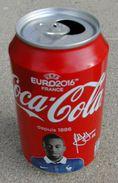 Canette Vide Collector Coca Cola Football Euro 2016 Blaise Matuidi - Cannettes