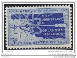 USA 1957, Oklahoma Statehood, 50th Anniv, MNH - Vereinigte Staaten