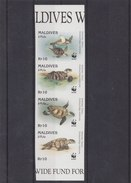 MALDIVES 1995 WWF Imperforated MNH With Sea Turtles. - W.W.F.