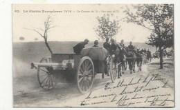GUERRE 1914-18 - CANON DE 75, EN CONVO I- VERSO COURRIER ORDINAIRE - Guerra 1914-18