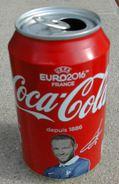 Canette Vide Collector Coca Cola Football Euro 2016 Yohan Cabaye International Français - Cannettes