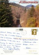Killiecrankie, Perthshire, Scotland Postcard Posted 2007 Stamp - Perthshire