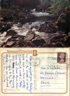 Falls Of Feugh, Banchory, Kincardineshire, Scotland Postcard Posted 1977 Stamp - Kincardineshire