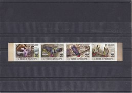 S.TOME E PRINCIPE 2009 WWF Imperforated MNH With Parrot. - W.W.F.