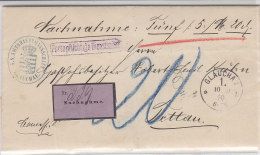 Nachnahmebrief Aus Glauchau 10.10.90 Nach Tettau / Rs. Vignette - Allemagne